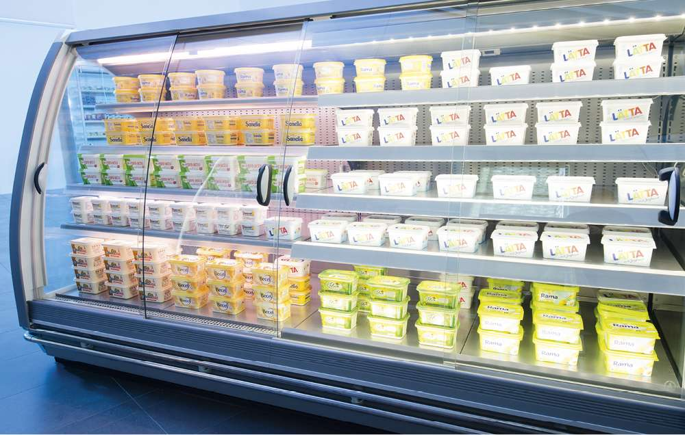 refrigerated cabinets, roller blind systems, glasscovers